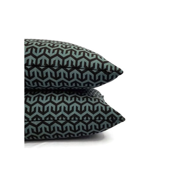 2010s Holly Hunt Anchors Aweigh Turqs and Caicos Accent Pillow Cover For Sale - Image 5 of 7