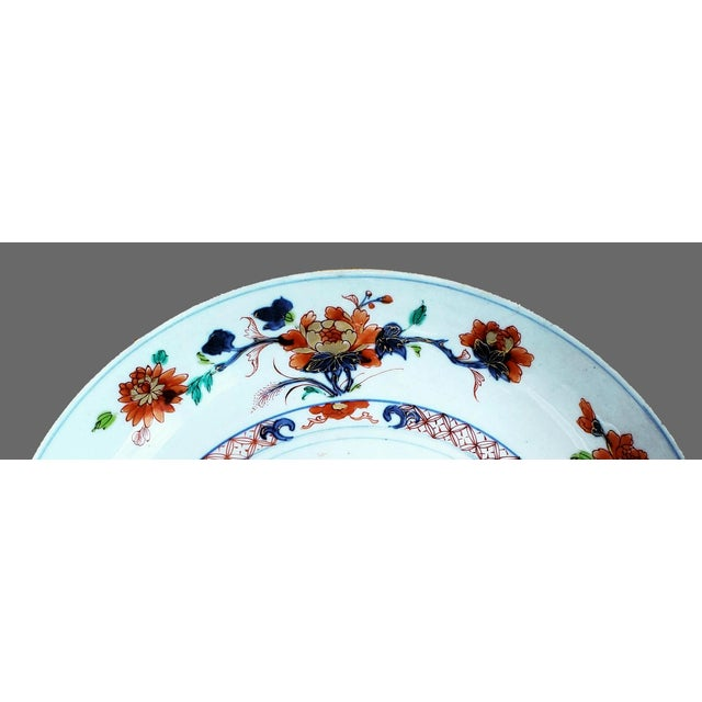 Chinese Export Porcelain Imari and Verte Saucer Dish For Sale - Image 10 of 12
