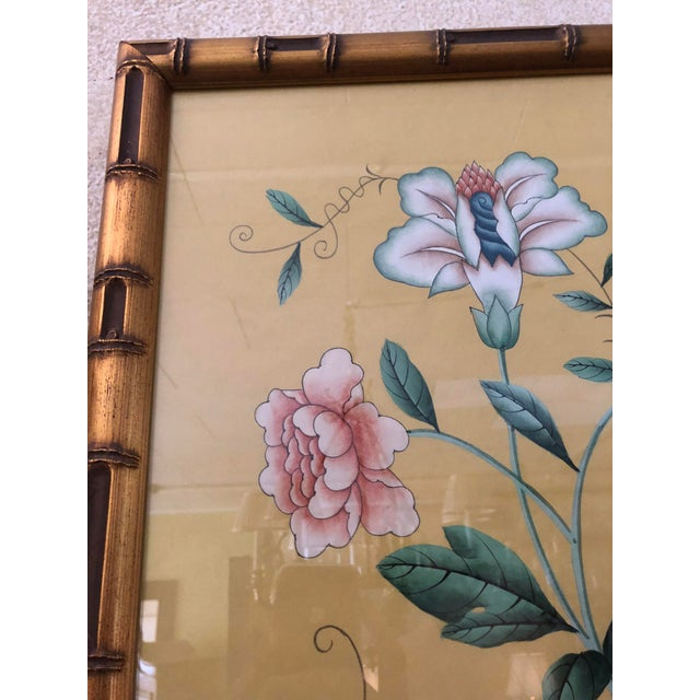 Gracie 1970s Vintage Framed Gracie Wallpaper Panels - A Pair For Sale - Image 4 of 13