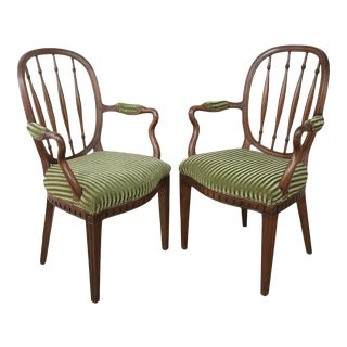 Pair 18th Century Swedish Armchairs For Sale