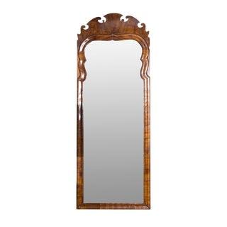 Mid 18th Century Vintage English George II Walnut Mirror For Sale