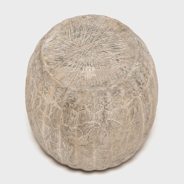 Early 20th Century Chinese Floral Melon Drum Stool For Sale - Image 5 of 8