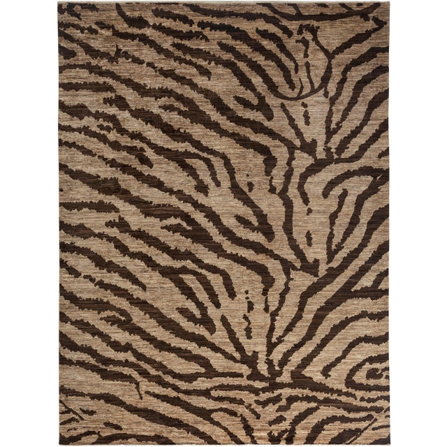 """Ziegler Hand Knotted Area Rug - 8'10"""" X 11'10"""" For Sale"""