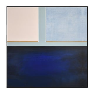 Abstract Blue Color Block - Painting 40x40 For Sale