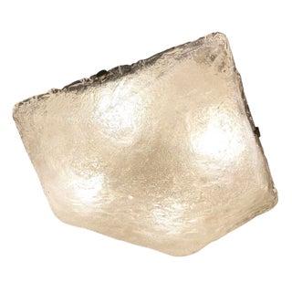 Square Murano Glass Flush Mount For Sale
