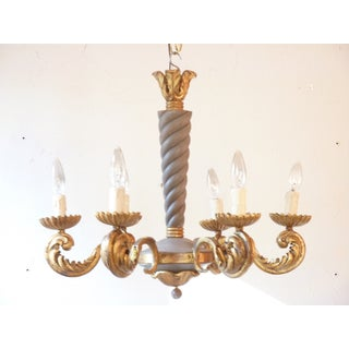 French Rococo Iron Chandelier Preview