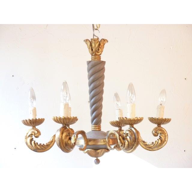 French rococo iron chandelier chairish french rococo iron chandelier image 2 of 5 aloadofball Gallery