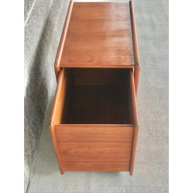 1980s Danish Modern Wood File Cart For Sale - Image 5 of 9