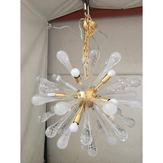 Early 21st Century Chandelier Sputnik Brushed Gold Murano Glass For Sale - Image 5 of 11