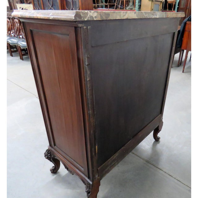 Brown Louis XV Style Marble Top Dresser. For Sale - Image 8 of 11