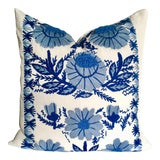 Image of Hand Embroidered Schumacher Pillow For Sale