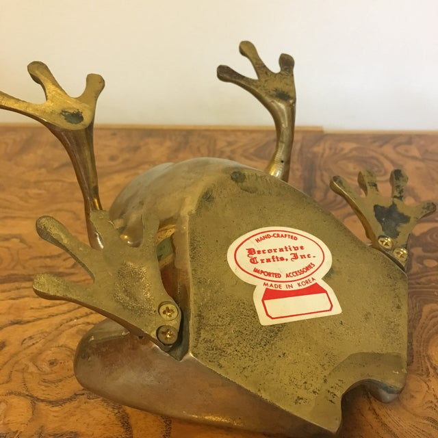 Mid 20th Century Mid-Century Brass Frog For Sale - Image 5 of 6