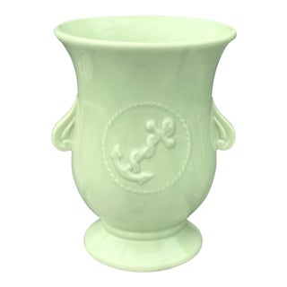 Vintage Nautical Green Roseville Pottery For Sale