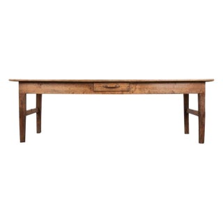 French 19th Century Pine Farmhouse Table For Sale