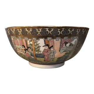 Large Chinese Decorative Porcelain Bowl For Sale