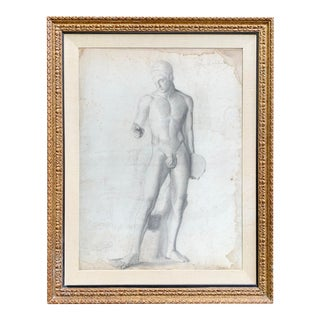 19th Century French Academic Figure Drawing For Sale