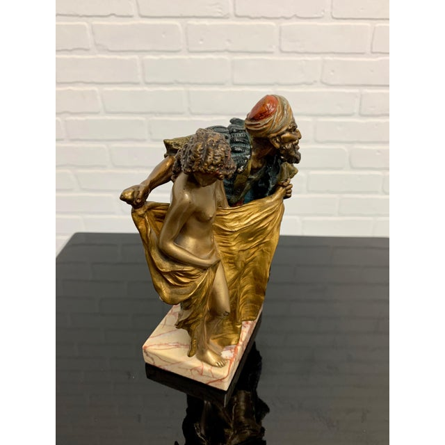 Metal Cold Painted Orientalist Vienna Bronze by Franz Bergman For Sale - Image 7 of 9