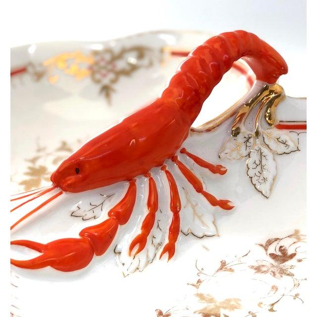 Coastal Lobster Faïence Serving Platter For Sale - Image 3 of 12