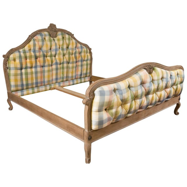 King-Sized Louis XV Style Country French Bed For Sale