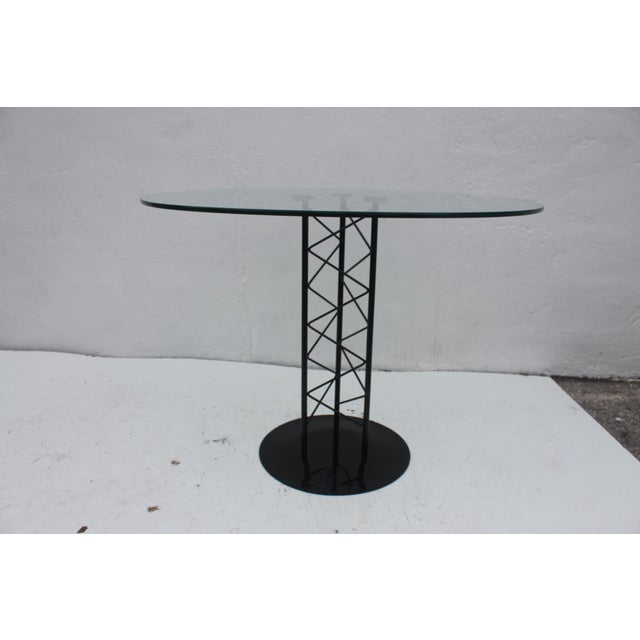 Italian Italian Sculptural Pedestal Base Round Dining Table For Sale - Image 3 of 8