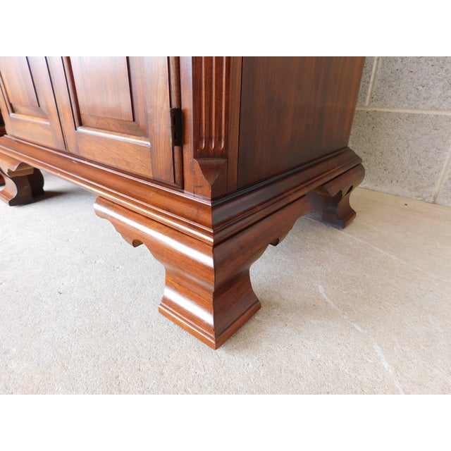 Wood Pennsylvania House Chippendale Style Solid Cherry Nightstands - a Pair For Sale - Image 7 of 13