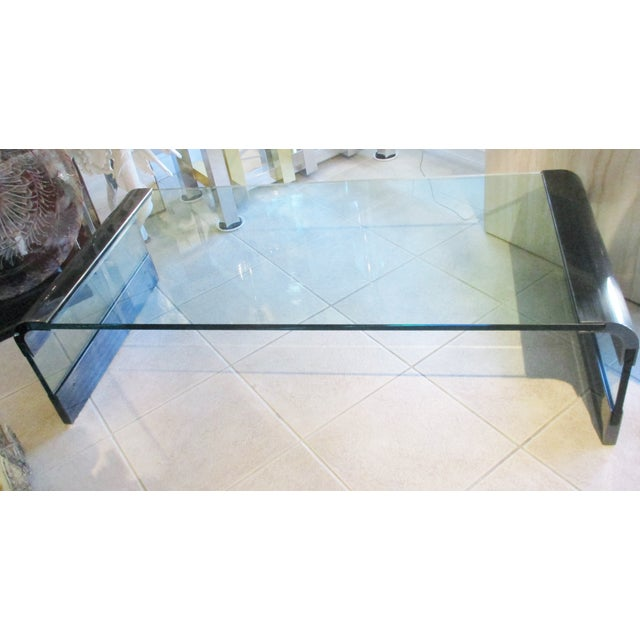 Mid-Century Modern 1970s Pace Collection Waterfall Coffee Table by Leon Rosen For Sale - Image 3 of 8