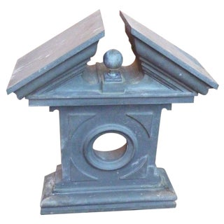 19th Century Wall-Mounted Zinc Pediment For Sale