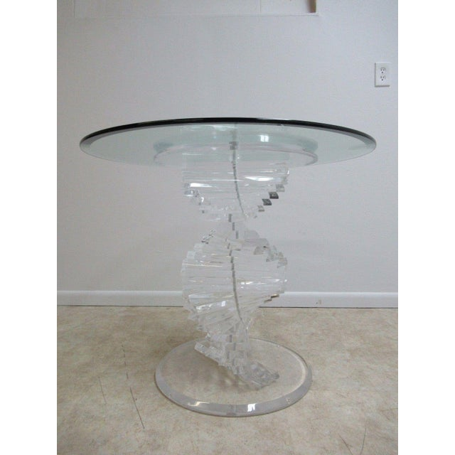 Vintage Interior Concepts Stack Lucite Dinette Dining Table For Sale - Image 11 of 11