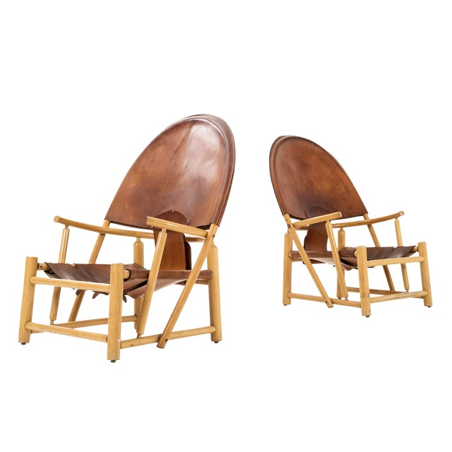 """Pair of Werther Toffoloni and Piero Palange """"Hoop"""" Lounge Chairs For Sale"""