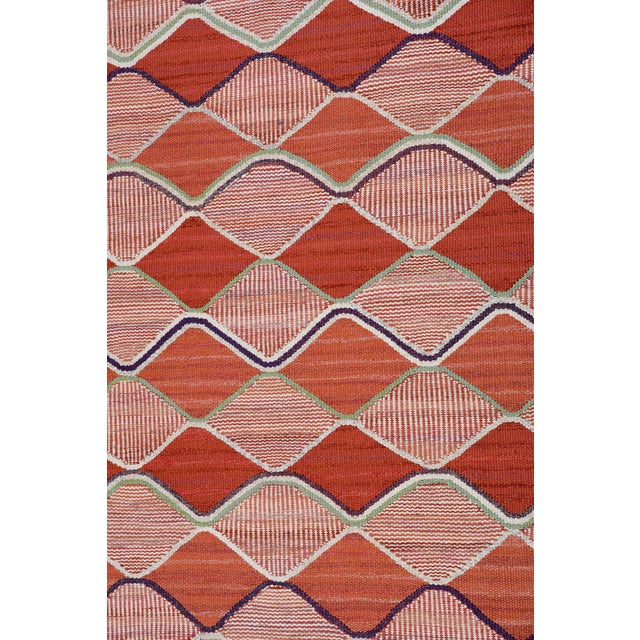 Mid-Century Modern Vintage Barbro Nilsson Flat-Weave Swedish Carpet for Marta Maas-Fjetterström For Sale - Image 3 of 10