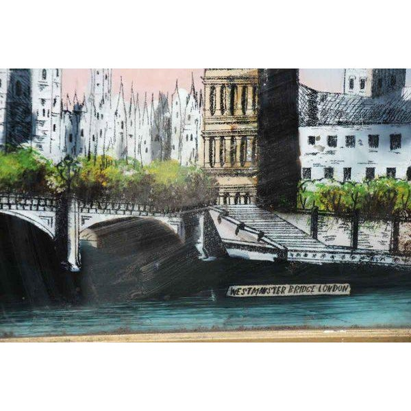 Paint Framed Print of London For Sale - Image 7 of 11