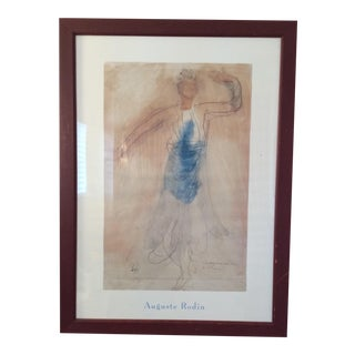 1990s Augusta Rodin Print Painting For Sale