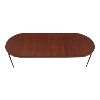 Round Dunbar Dining Conference Table Four Extension Leaves For Sale