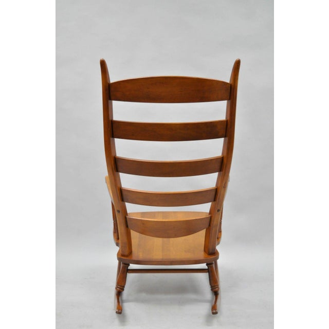 Mid-Century Tell City Maple Sculptural Ladder Back Rocking Chair For Sale - Image 10 of 11