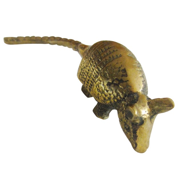 Solid Brass Anteater Paperweight Figurine - Image 1 of 8