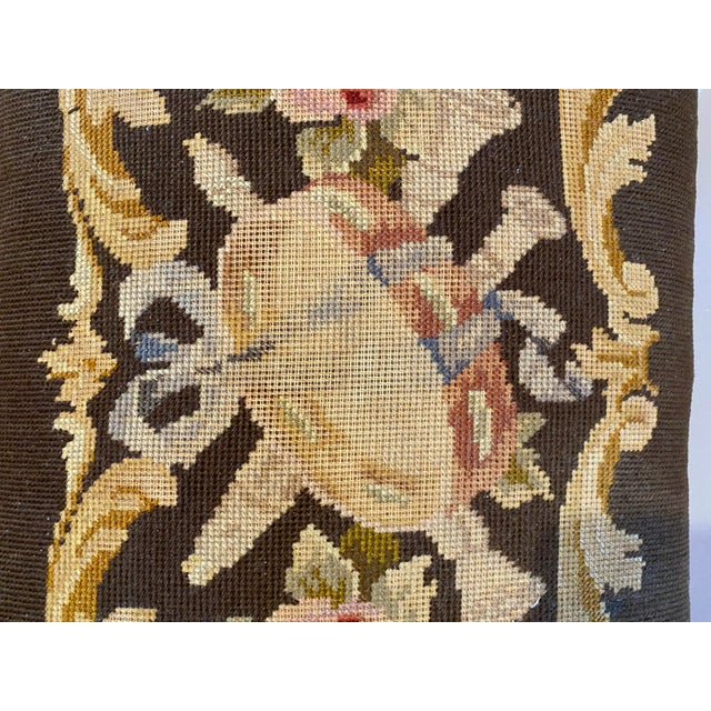 Vintage Needle Point Drum and Flower Design Bench For Sale In Los Angeles - Image 6 of 10