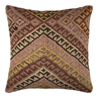 "Reclaimed Vintage Kilim Pillow | 20"" For Sale"