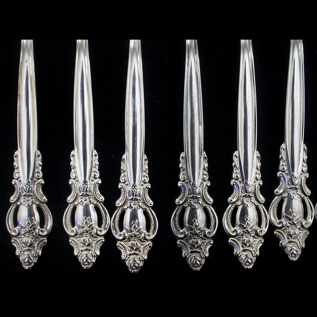 1980s Vintage International Silverplate Empress Pattern Flatware - 50 Pieces For Sale - Image 5 of 8