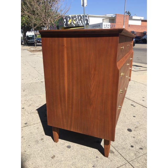 Mid-Century Modern 12 Drawer Dresser - Image 8 of 10