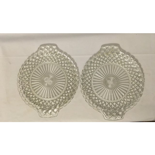 Clear Cut Glass Serving Trays - A Pair - Image 2 of 7