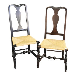Period Queen Anne Side Chairs- a Pair For Sale