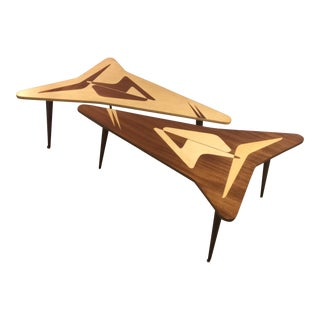 Atomic Shaped Coffee Tables - A Pair
