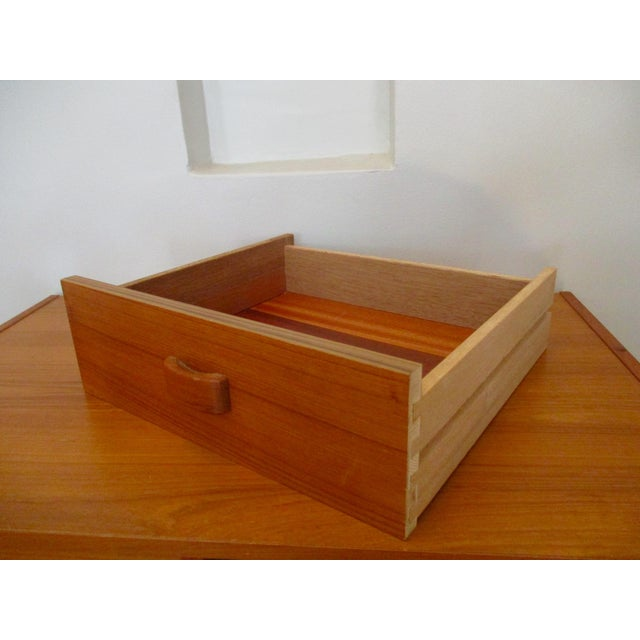 Mid Century Modern Danish Teak Domino Mobler Danish Modern Teak Dresser Nightstand Small Cabinet Jewelry Cabinet - Image 11 of 11