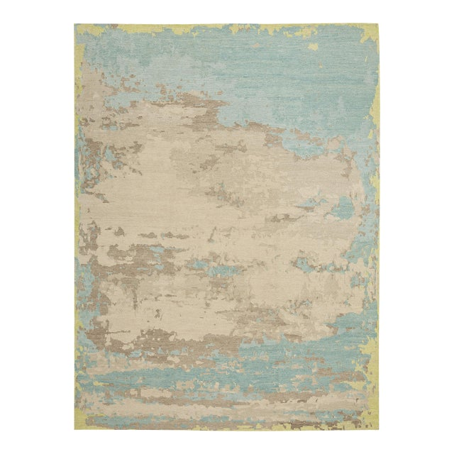 Abstract Earth Elements - Customizable Spearmint Rug (8x10) For Sale - Image 3 of 3