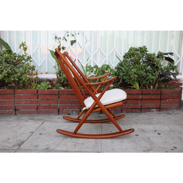 Danish Teak Rocking Chair by Reenshang for Bramin For Sale - Image 5 of 9