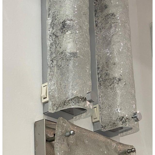 Mid-Century Modern Doria Leuchten Eisglas Sconces - a Pair For Sale - Image 11 of 13