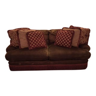 Sherrill Brown Velvet Couch