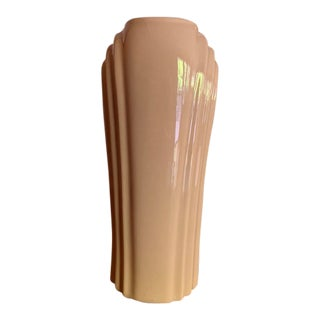 Tall Art Deco Pink Vase For Sale