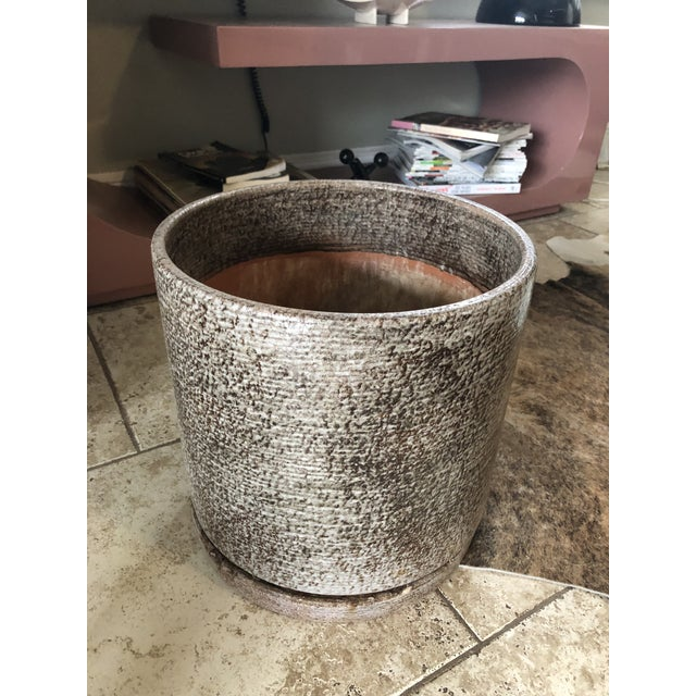 """Just removed from a Mies Van Der Rohe designed building in Kansas City. This medium size 12"""" planter is the perfect size..."""