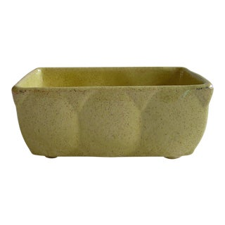 1960's Vintage Ceramic Mustard Yellow Planter For Sale